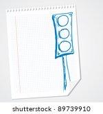 traffic light doodle | Shutterstock .eps vector #89739910