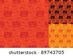 seamless halloween pumpkin... | Shutterstock .eps vector #89743705