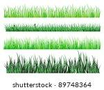 green grass and field elements... | Shutterstock . vector #89748364