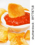 fried potato chips with... | Shutterstock . vector #89778718