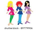 children's fashion | Shutterstock .eps vector #89779906
