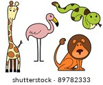 vector drawing of a wild... | Shutterstock .eps vector #89782333