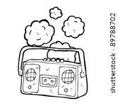 retro radio cassette player... | Shutterstock .eps vector #89788702
