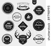 Stock vector set of vintage retro premium quality badges and labels 89798995