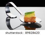 silver appetizer spoon with... | Shutterstock . vector #89828620