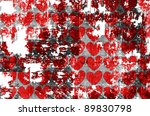 heart on grange background | Shutterstock . vector #89830798