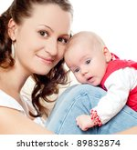 young mother with a charming... | Shutterstock . vector #89832874