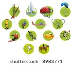green round sport icons | Shutterstock . vector #8983771