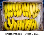 A Stem Of Bananas In The Box O...