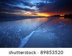 beautiful sunset at sea.   Shutterstock . vector #89853520