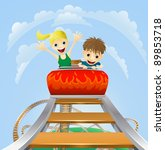 illustration of a boy and girl... | Shutterstock .eps vector #89853718