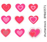 heart valentine's day set... | Shutterstock .eps vector #89865571