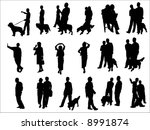 business people silhouettes | Shutterstock .eps vector #8991874
