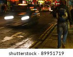 picture of nightlife in london city - stock photo