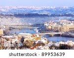 Romantic Snowy Prague City In...