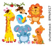 cute animals collections | Shutterstock .eps vector #89969317