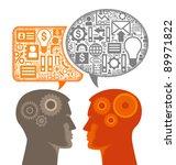 communication businessmen joint ... | Shutterstock .eps vector #89971822