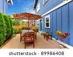 beautiful outdoor sitting area... | Shutterstock . vector #89986408