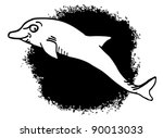 dolphin style | Shutterstock .eps vector #90013033