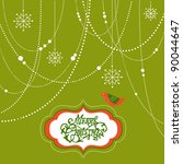 abstract christmas background ... | Shutterstock .eps vector #90044647