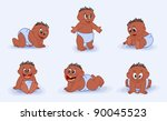many black babies | Shutterstock .eps vector #90045523