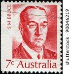 australia   circa 1972  a stamp ...   Shutterstock . vector #90046219