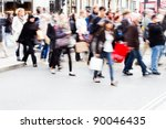 shopping people crossing a... | Shutterstock . vector #90046435