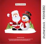 santa claus and snowman | Shutterstock .eps vector #90048382