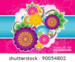 floral background | Shutterstock .eps vector #90054802