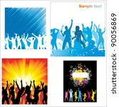 set posters of dancing girls... | Shutterstock . vector #90056869