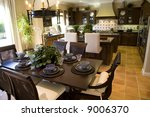 dining table with luxury home... | Shutterstock . vector #9006370
