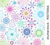 christmas seamless pattern with ... | Shutterstock .eps vector #90070066