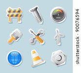 Sticker Button Set. Icons For...