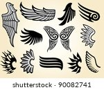 wings collection | Shutterstock .eps vector #90082741