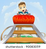 illustration of a business man... | Shutterstock .eps vector #90083059