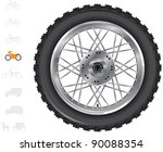 Постер, плакат: Motorbike wheels The series