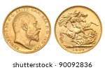 british gold sovereign of 1907  ... | Shutterstock . vector #90092836