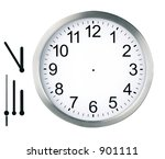 round clock isolated   Shutterstock . vector #901111