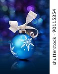 christmas balls on a holiday... | Shutterstock . vector #90115354