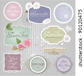vector set  vintage labels | Shutterstock .eps vector #90120475