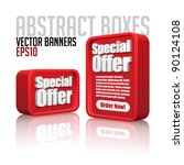 3d plastic abstract banners set ... | Shutterstock .eps vector #90124108
