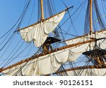 Masts With Sails On A Large...