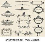 vintage calligraphic design... | Shutterstock .eps vector #90128806