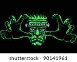 frankenstein monster  black...