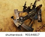 Sextant On An Old Map