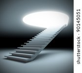 A 3d illustration of a stair to the future. - stock photo