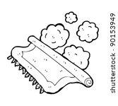 dusty old carpet cartoon | Shutterstock .eps vector #90153949