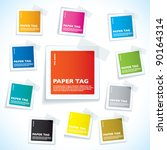 collection of paper notes with... | Shutterstock .eps vector #90164314