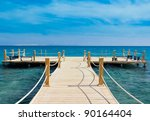 pier over waters | Shutterstock . vector #90164404