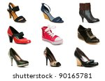 Collection Of Various Shoes...